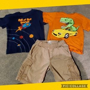 Size 5 2 tees and shorts